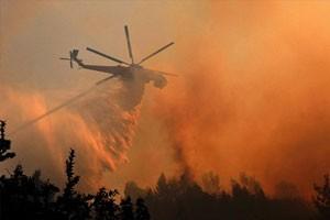 Крупный пожар в Чернобыльской зоне