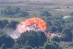 При подъёме самолёта, разбившегося на авиашоу в Великобритании, не нашли новых жертв
